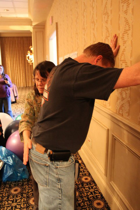 standing sacral with Mark Dothian