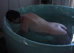 Opening brim in tub.web