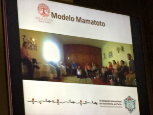Midwife Ana Cris gathering of parents for education and health care