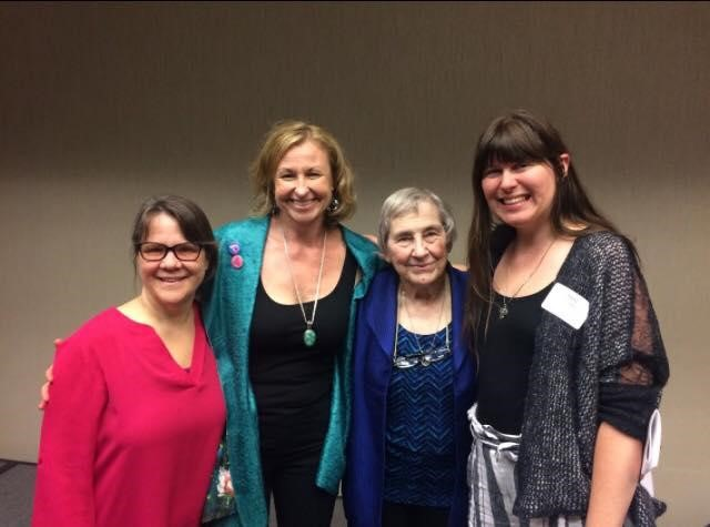 "Gail with April Bolding, Penny Simkin, and Kelly Dungan at Penny's 80th Birthday ""Day of Learning."""